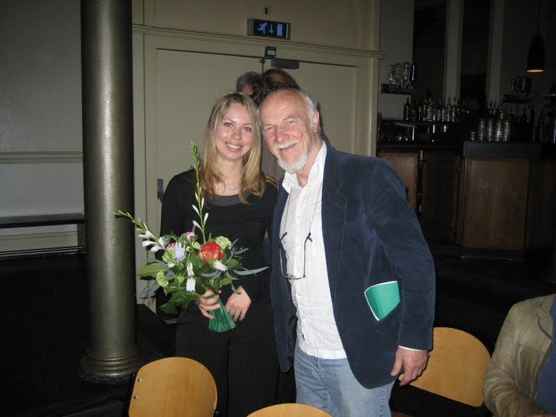 Svitlana Azarova and Theo Loevendie after her concert in Paradiso, Amsterdam, Holland