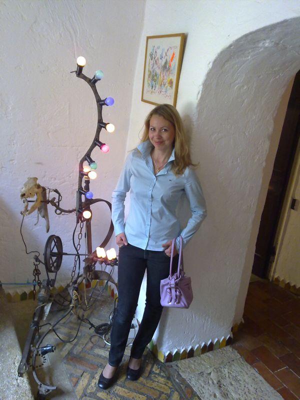Svitlana Azarova at la Colombe d'Or